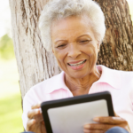 Senior with iPad