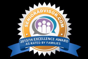 SeniorAdvisor.com 2013-14 Excellence Award