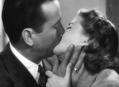 Casablanca Humphrey Bogart Ingrid Bergman Kiss