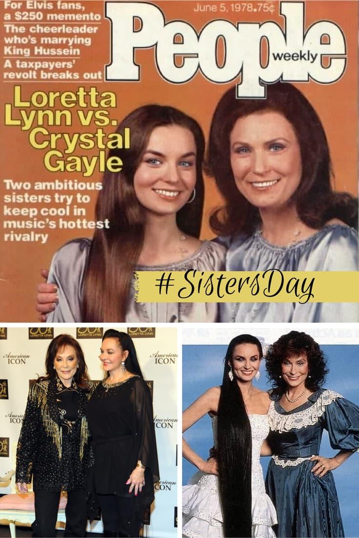 Loretta Lynn and Crystal Gayle Sisters