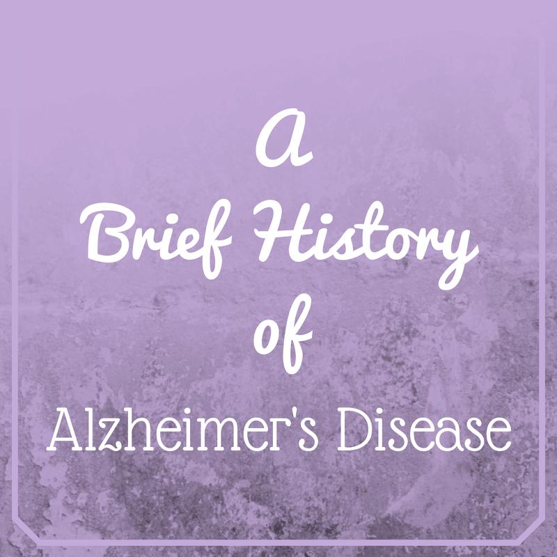 History of Alzheimer's