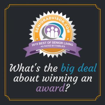 What's the big deal about winning a SeniorAdvisor.com Best of 2015 award?