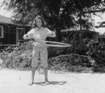 Hula Hoop Girl 1950s