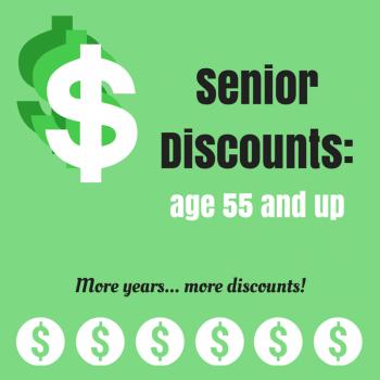 Senior Discounts Age 55