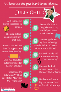 How Tall Was Julia Child? and 9 More Things We Bet You Didn't Know About the Culinary Superstar Infographic