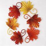 Fan Folded Leaves