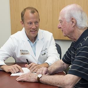 Eric Lenze MD from Washington University School of Medicine with senior depression patient Daniel Viehmann