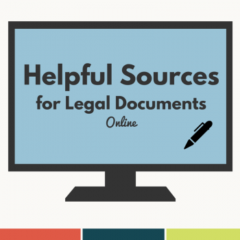 Helpful Sources for Legal Documents Online