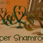 Paper shamrocks