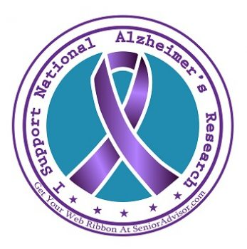 """Join SeniorAdvisor.com's """"I Support National Alzheimer's Research"""" campaign and get your ribbon today"""
