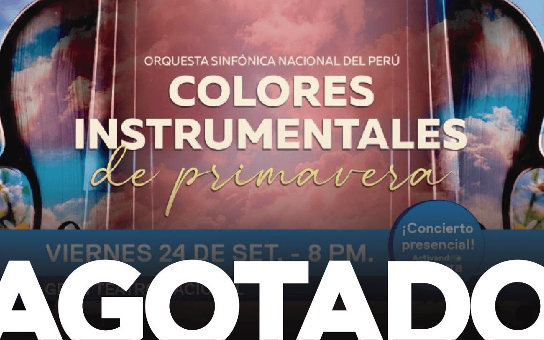 Orquesta Sinfónica Nacional: Colores Instrumentales de Prima