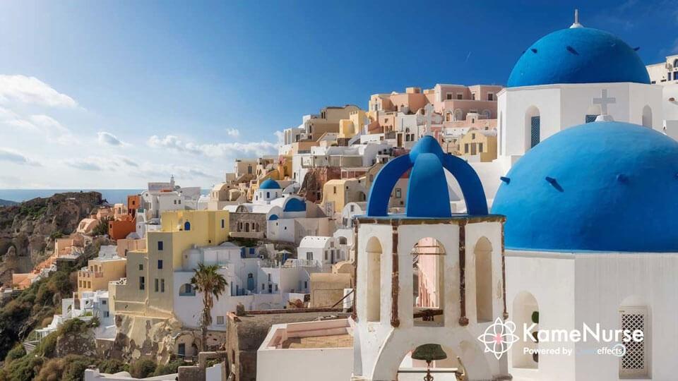 ギリシャ・サントリーニ島・青と白の美しい島の秘密・トラベルナース!