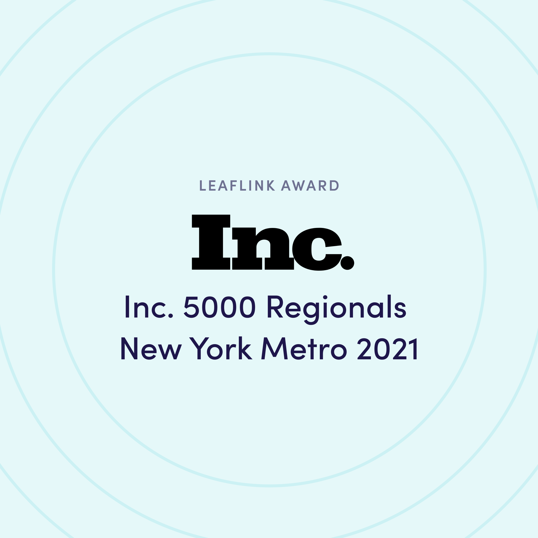 Inc. 5000 - The Top 250 Fastest-Growing Private Companies in the New York Metro Area 2021
