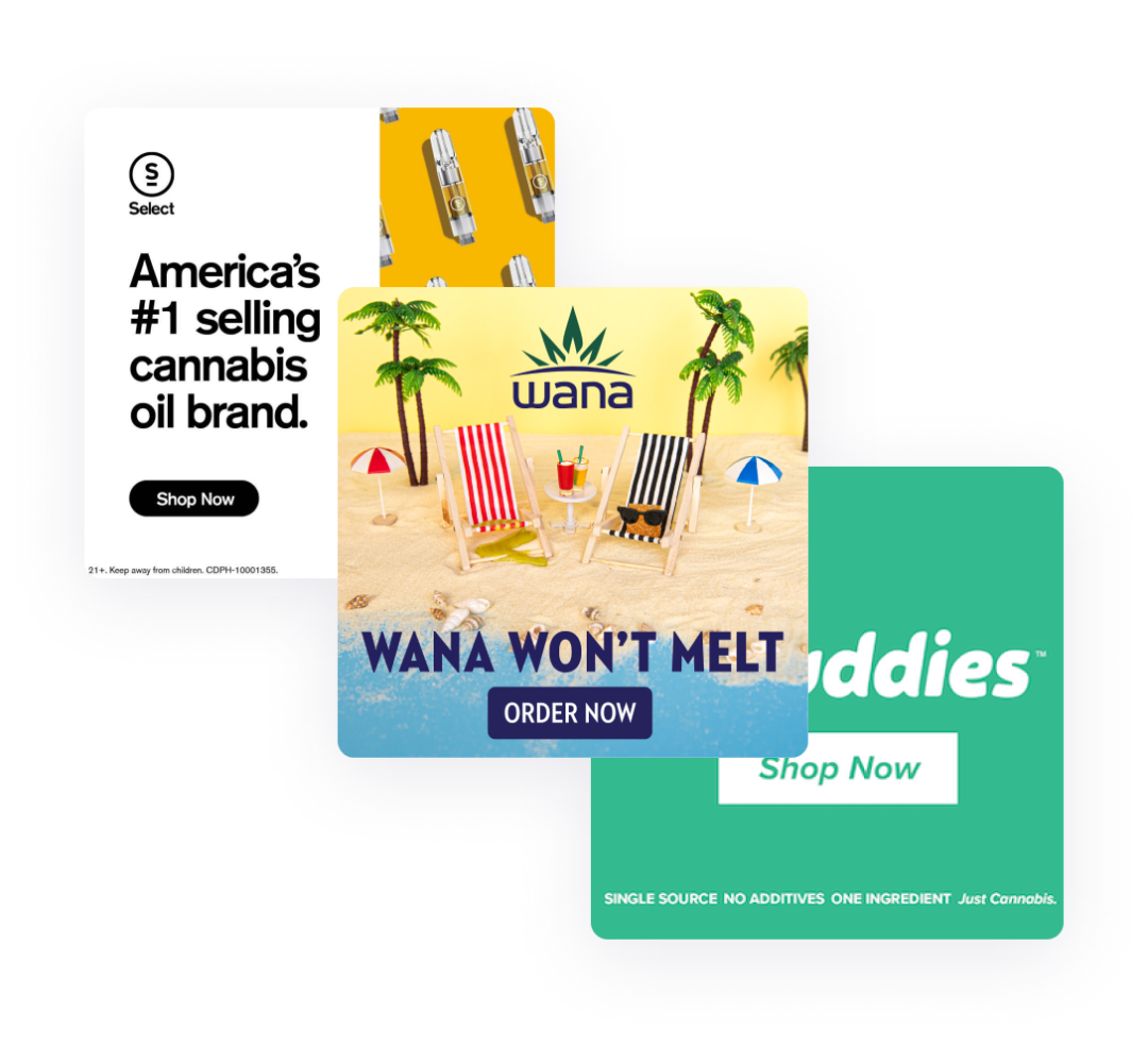 display ad cannabis