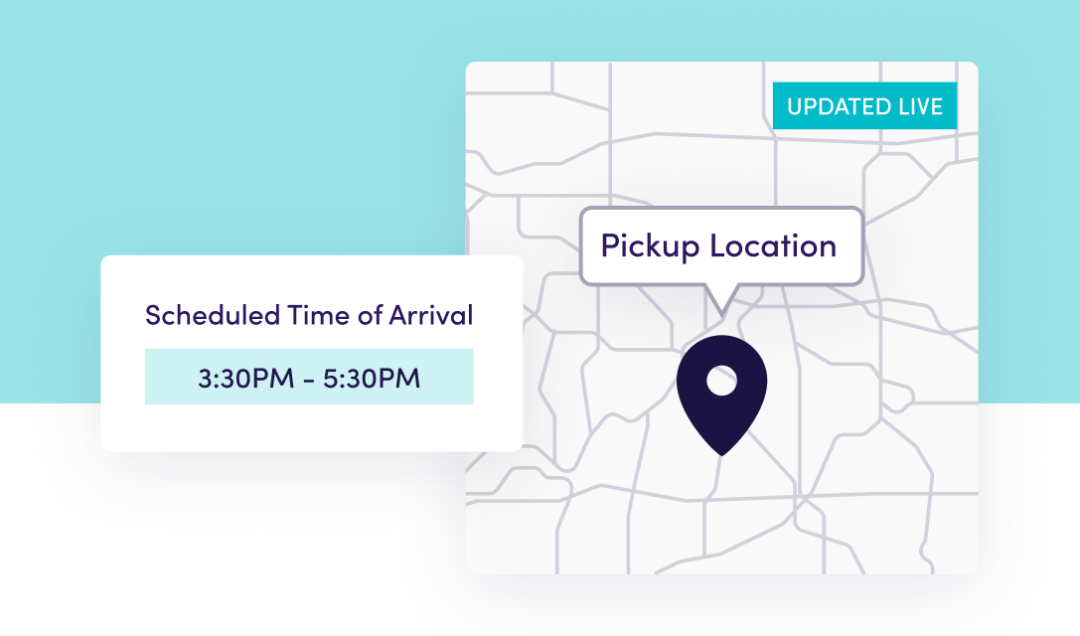 leaflink shipping map and arrival time