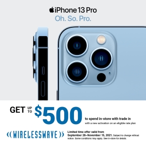 Get up to $500 to spend instore with trade in