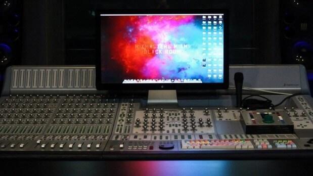 mix master studio control panel