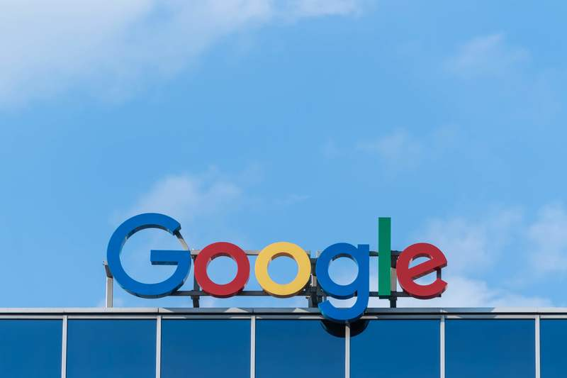 A picture of the google sign at one of their locations