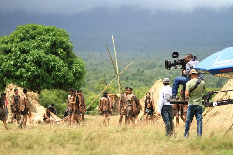 Filming on location in Africa after a successful location scout