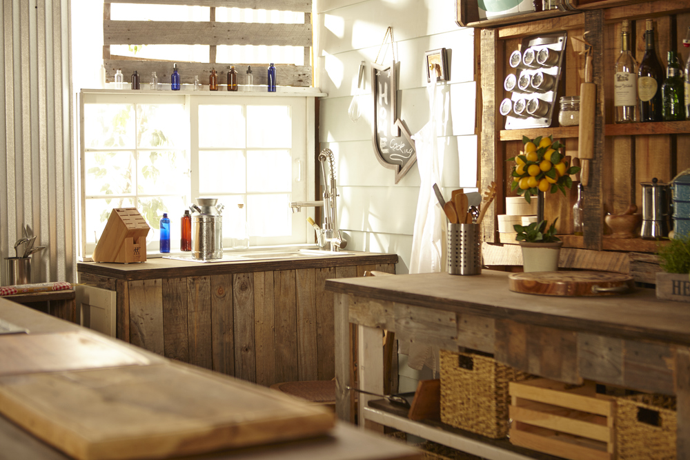 Rustic kitchen photo studio  natural light  madstudios