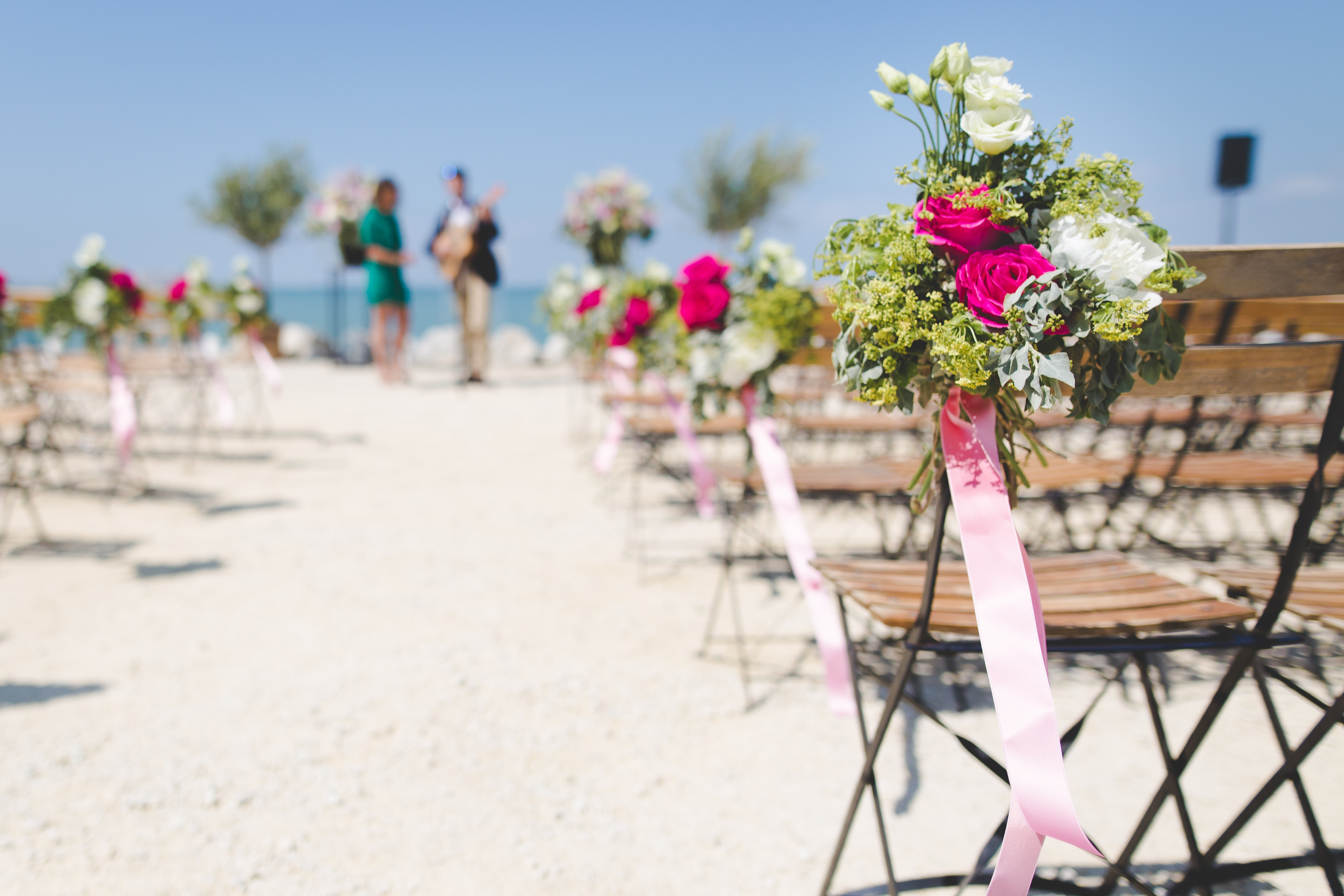 Chairs with flowers miami beach wedding