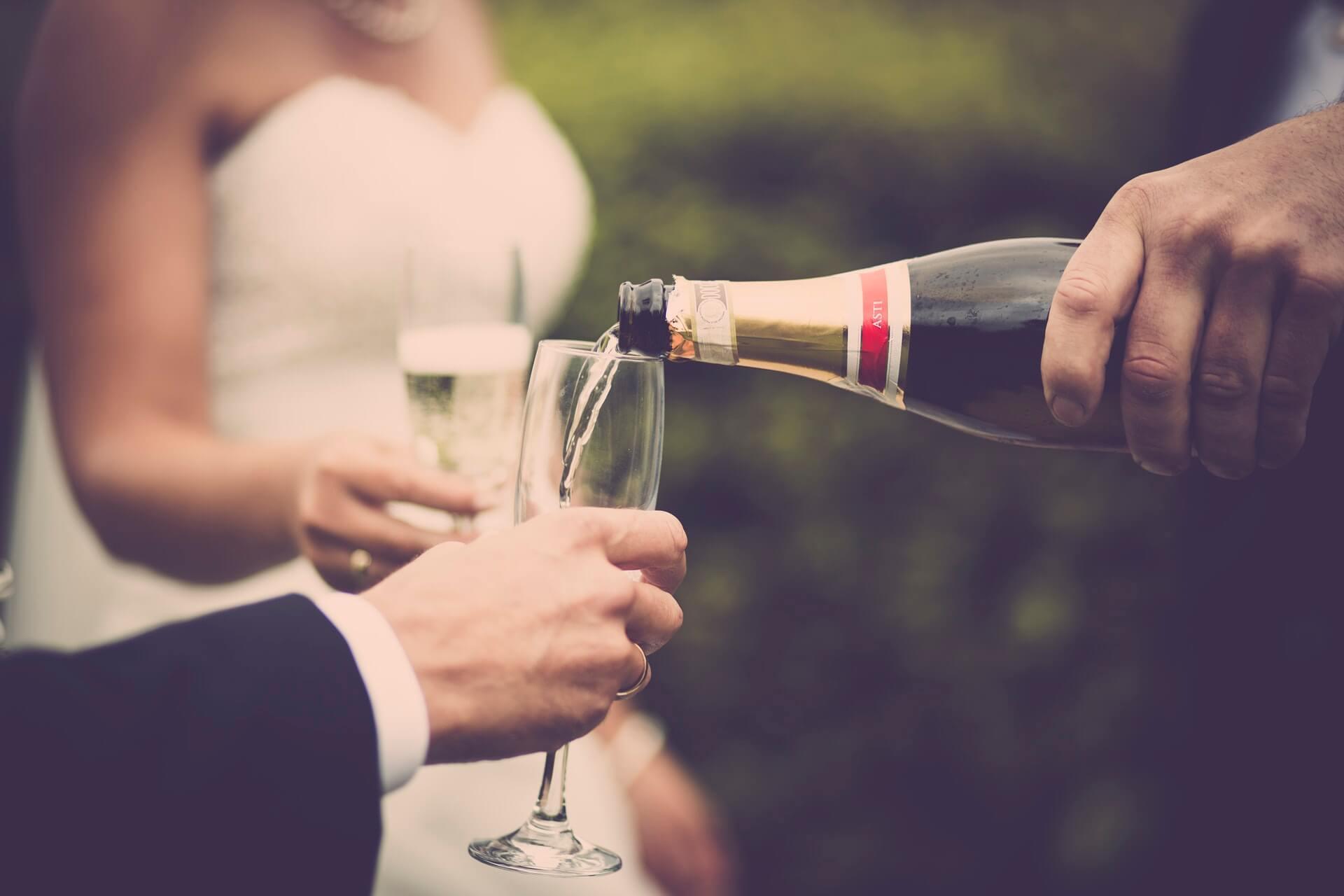Wedding before banquet