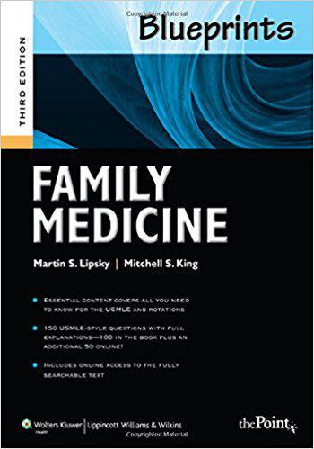 Blueprints Family Medicine, 3rd Edition (Blueprints Series) Third Edition