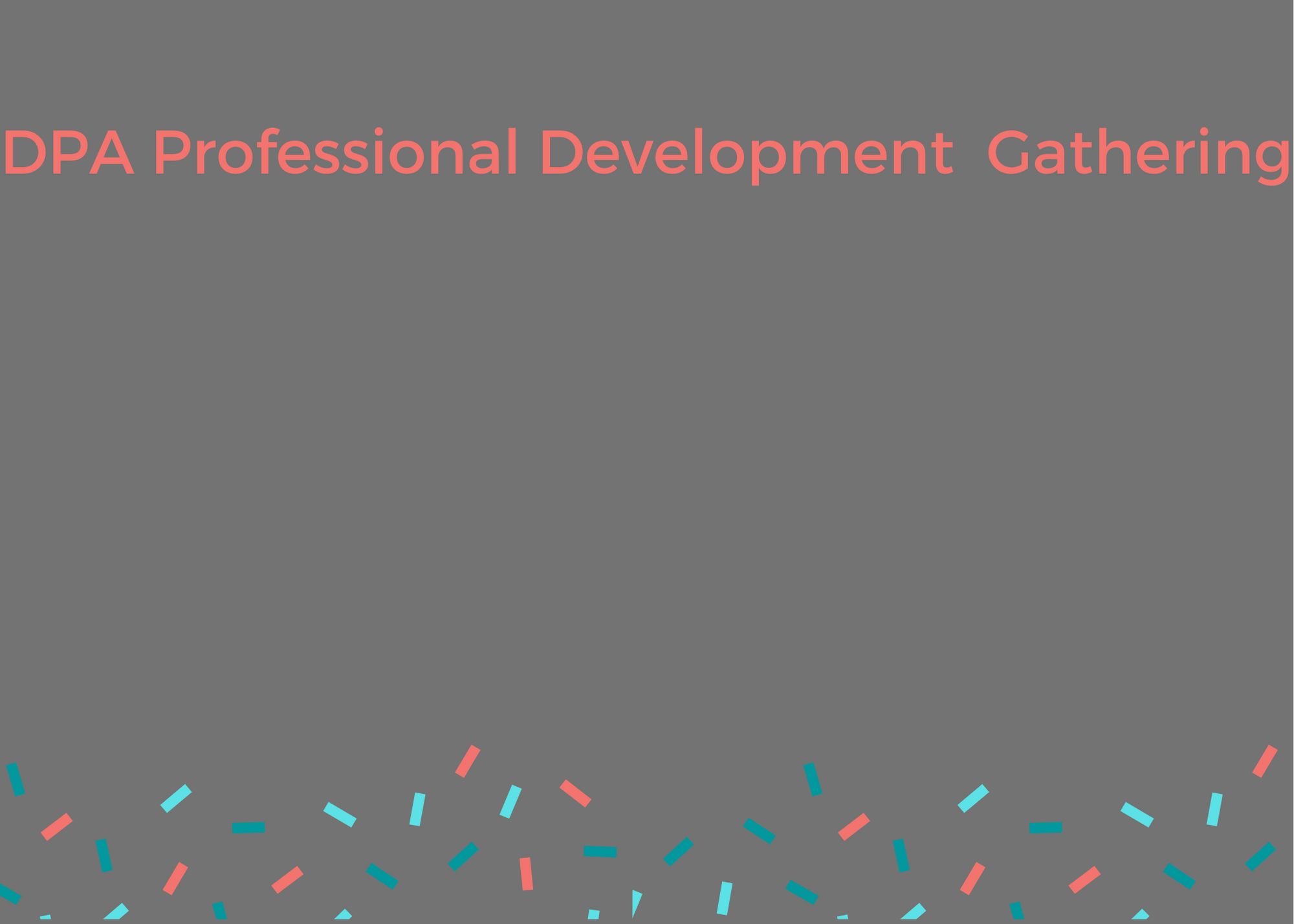 Professional Development Gathering- Creative Practice with guest David Leventhal- December 15th