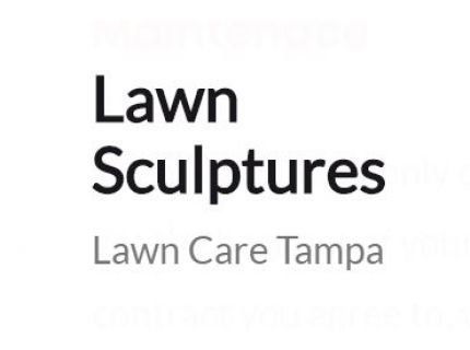 Lawn Sculptures   Lawn Service in Tampa Bay