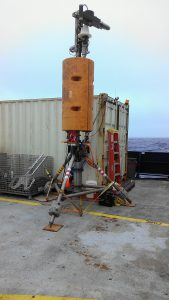 The Cabled Observatory Vent Imaging Sonar (COVIS) uses sonar to measure the heat from hydrothermal vents.