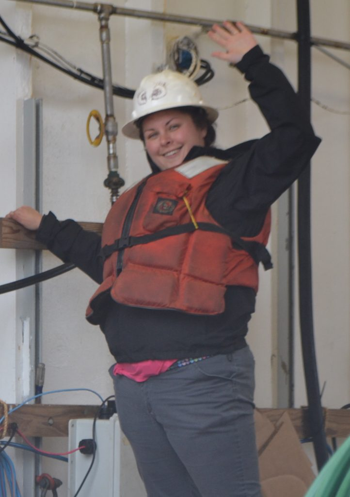 Ready to go! Jasmine Durant ready to help with Deep Profiler recovery. Credit: University of Washington, V18