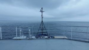 A beautiful view of the NE Pacific from the bridge of the R/V Roger Revelle. Credit: S. Seroy, University of Washington, V17.