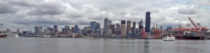 A view of downtown Seattle from the R/V Sikuliaq as it docked for fueling. Credit: D.S. Kelley, University of Washington, V16.