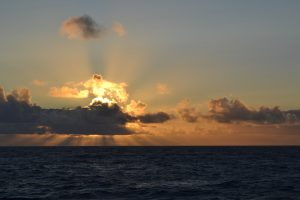 A beautiful sunset on Leg 2 of the VISIONS'15 expedition. Credit: Lauren Kowalski, University of Washington, V15.