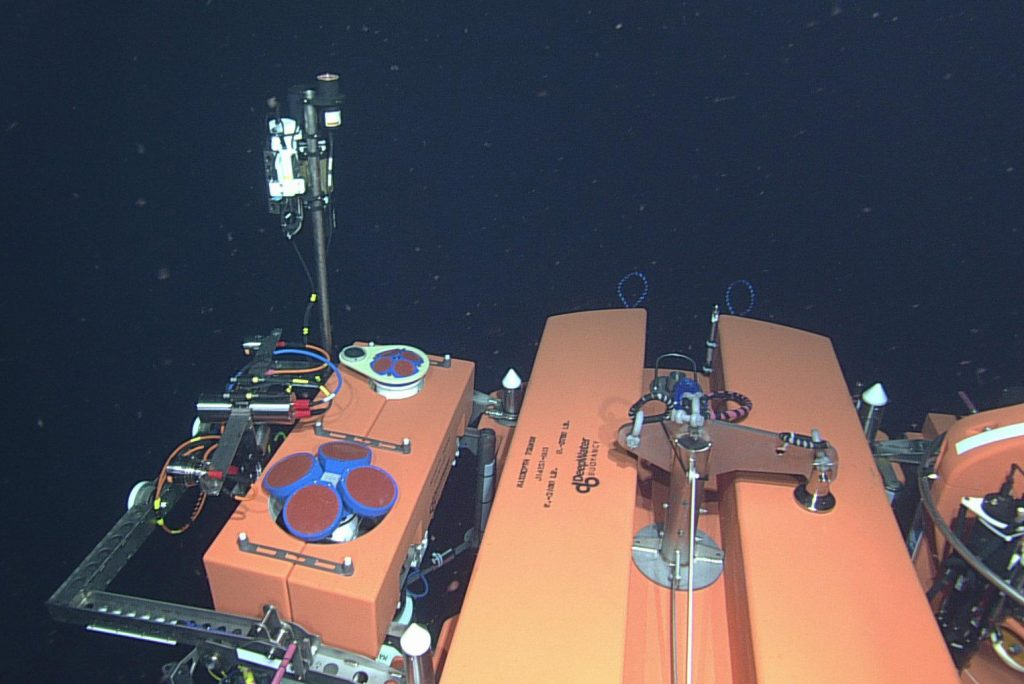 The 200-meter platform instrument package is seen here. The mooring was successfully installed during VISIONS'14.Photo Credit: NSF-OOI/UW/CSSF, Dive 1797, V14.