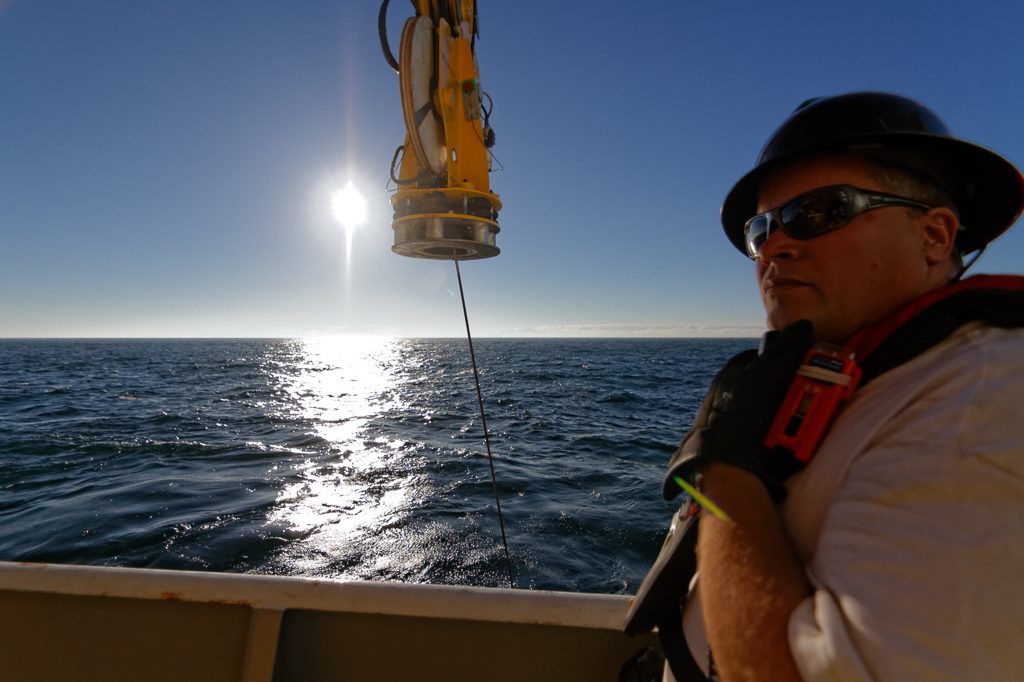 Keith Tamburri led all ROPOS operations during Leg 4 of the VISIONS'14 Expedition. He is the Assistant Manager for the Canadian Scientific Submersible Facility. During Leg 4, he directed 30 ROPOS dives. Image Credit: Ed McNichol, V14.