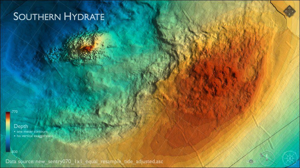 Southern Hydrate Ridge Bathymetry
