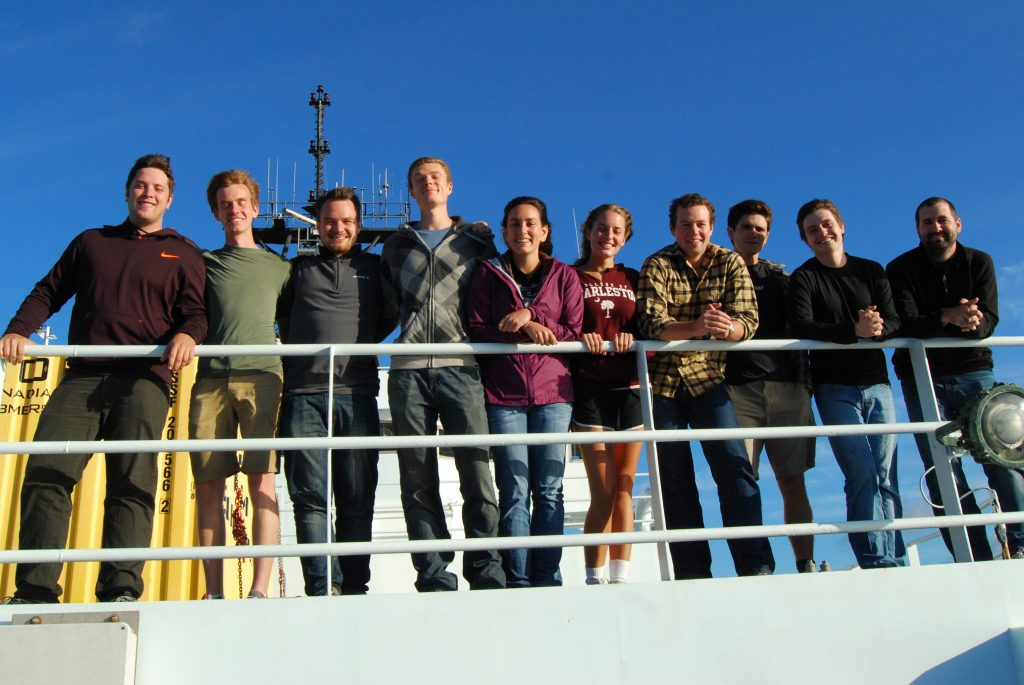 Students on VISIONS '13 Leg 3  	Left to right: Trevor Uptain, Ryan Cox, Fredrik Ryden, Cody Turner, Marisa Gedney, Montgomery Taylor, Isaac Stockdale, Brendan Philip, Owen Coyle, J.R. Rembert