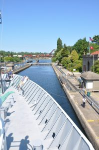 Passing through the Ballard Locks (photo: Judy Twedt)