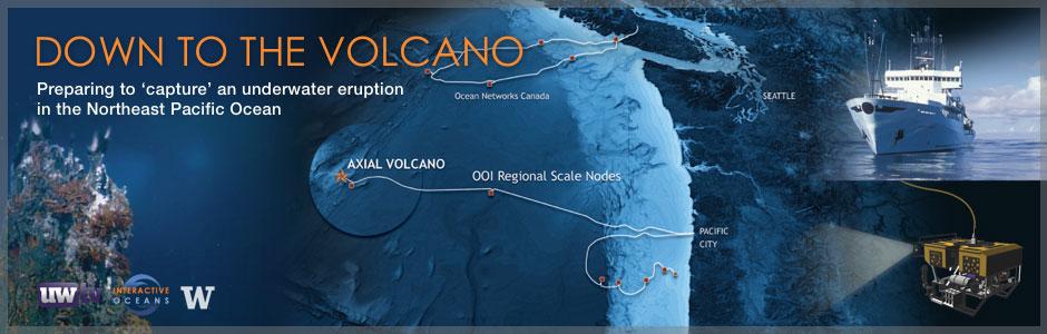 """Preparing to """"capture"""" an underwater volcano in the northeast Pacific Ocean."""