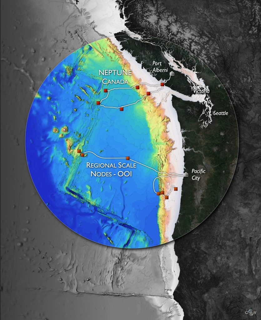 Northeast Pacific Time-series Underwater Networked Experiments