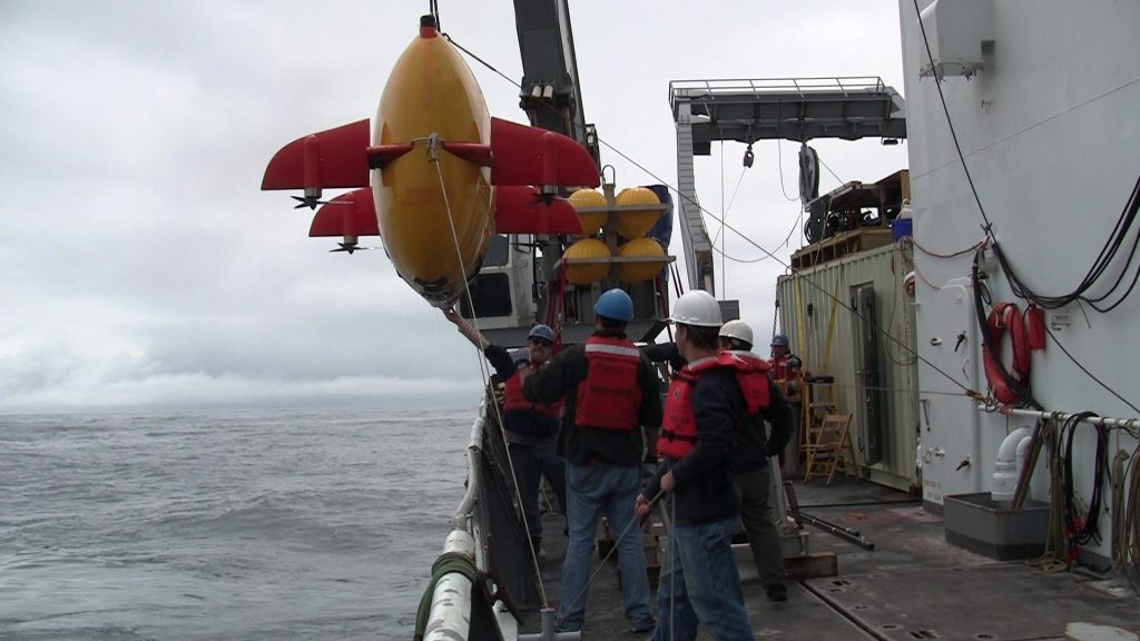 During this cruise, both Jason and Sentry worked at Southern Hydrate Ridge. During Jason dive 508, Sentry was recovered while Jason continued to work.