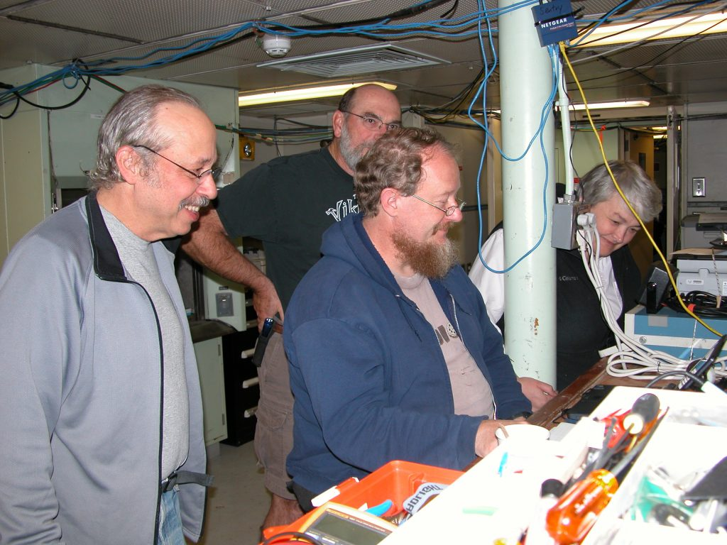 Deb, Skip, Dana and Al in the Main Lab.