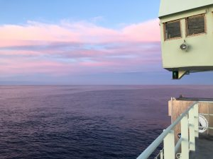 We were hoping for a green flash, but were rewarded with a beautiful view anyway.