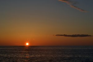 A beautiful night onboard the R/V Atlantis. Credit: M. Elend, University of Washington, V19.