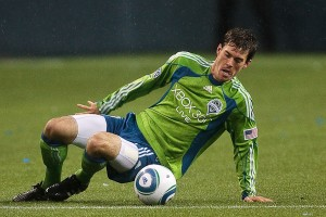 Brad Evans- Sounders-Union - March 2010