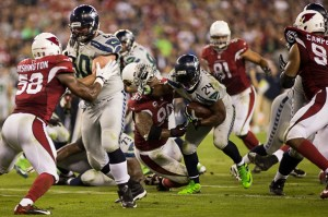 Marshawn Lynch delivers a signature moment in the Seahawks season.