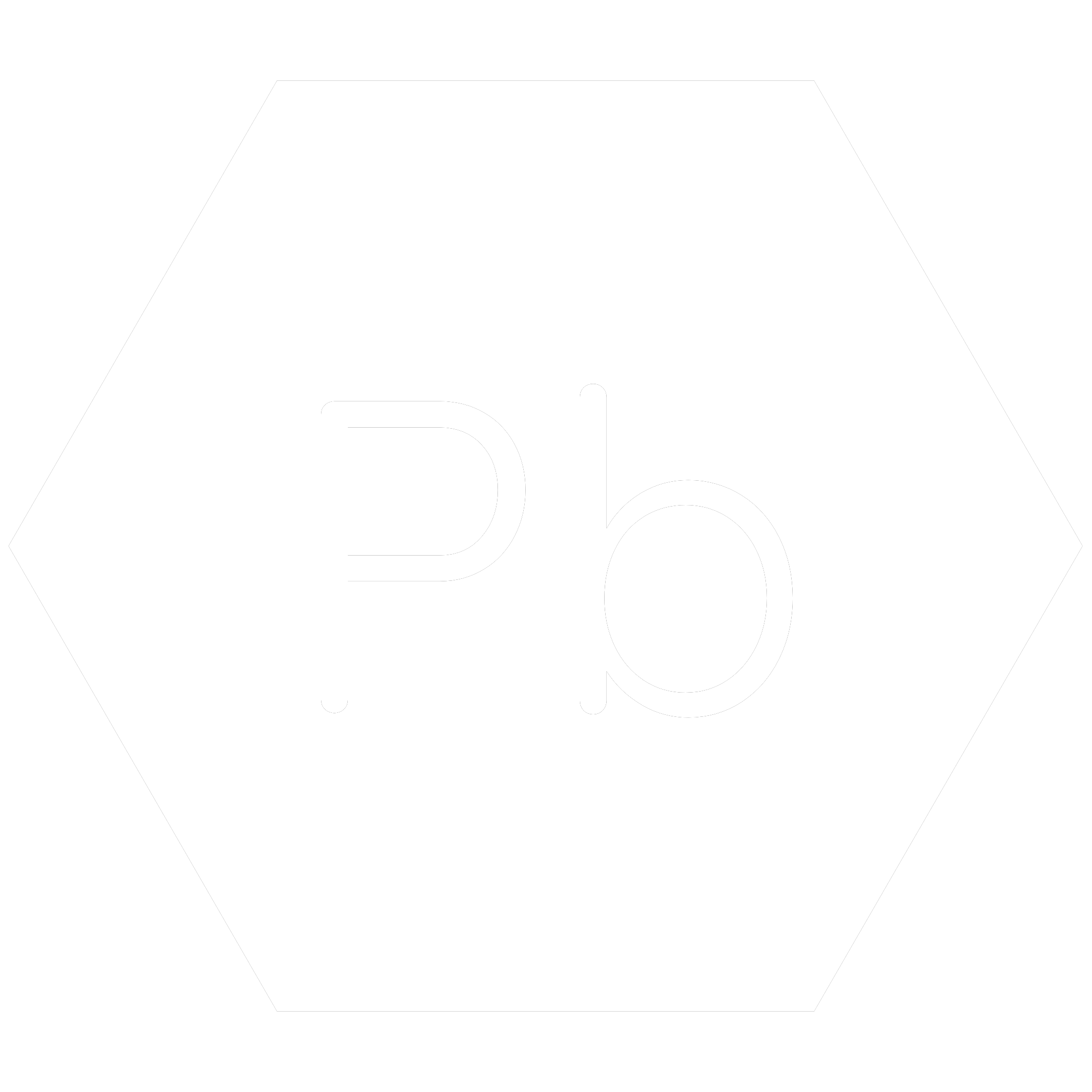 White hexagon icon with the chemical symbol for Lead which is a banned RoHS substance.