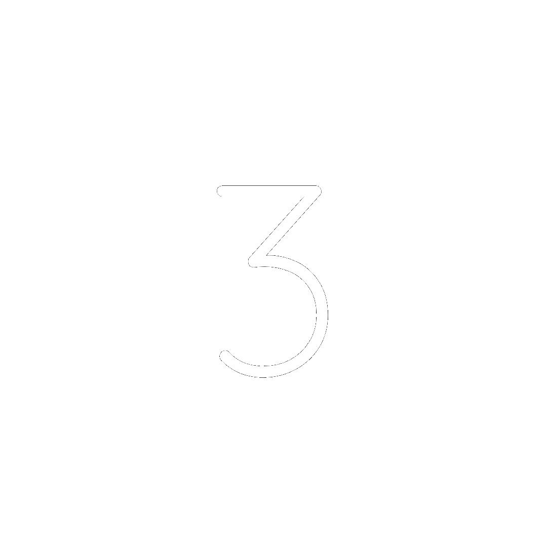 White number three icon.