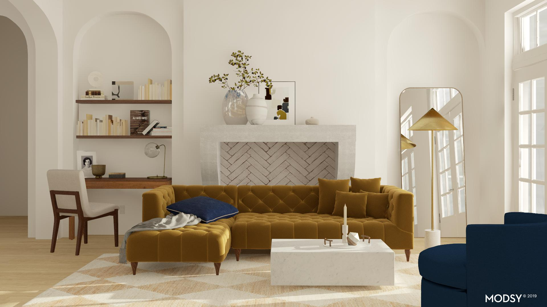 Chic Living Room With Mod Twist Modern Style Living Room Design Ideas